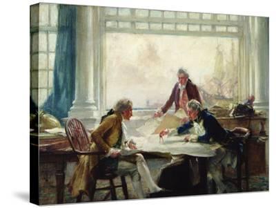 A Plan of Campaign-Arthur David McCormick-Stretched Canvas Print
