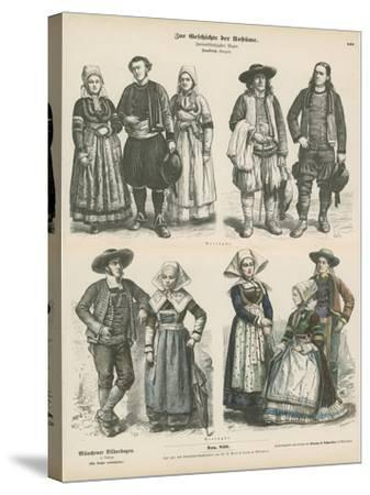 Costumes of Brittany, Late 19th Century--Stretched Canvas Print