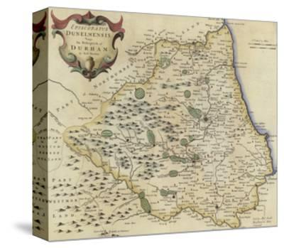 Map of Durham-Robert Morden-Stretched Canvas Print