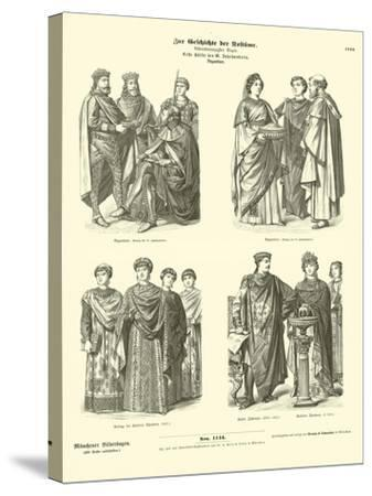 Byzantine Costumes, First Half of 6th Century--Stretched Canvas Print