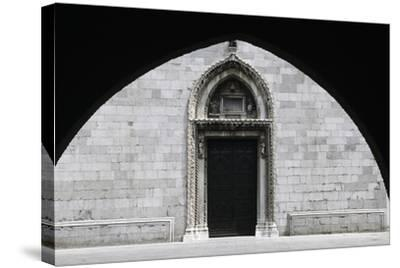 Entrance, Cathedral of Cividale Del Friuli--Stretched Canvas Print