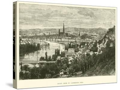 Rouen from St Catherine's Hill--Stretched Canvas Print
