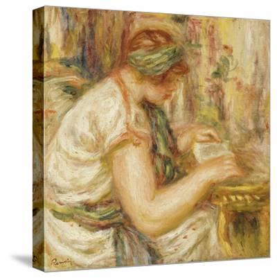 Woman in an Arab Blouse Reading, 1919-Pierre-Auguste Renoir-Stretched Canvas Print