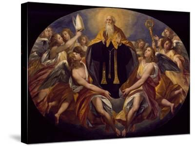 St Benedict in Glory-Giuseppe Cesari-Stretched Canvas Print