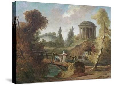 The Cascades at Tivoli, C.1775-Hubert Robert-Stretched Canvas Print