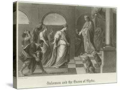 Solomon and the Queen of Sheba-Peter Paul Rubens-Stretched Canvas Print