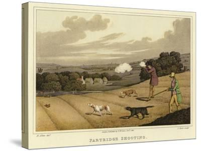 Partridge Shooting-Henry Thomas Alken-Stretched Canvas Print