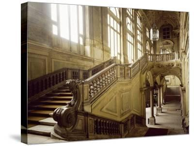 The Grand Staircase, Palazzo Madama--Stretched Canvas Print