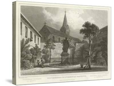 Guttenberg's Monument at Mayence-William Tombleson-Stretched Canvas Print