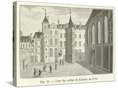 Cour Du College De Lisieux En 1779--Stretched Canvas Print