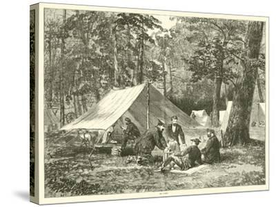 In Camp, July 1863--Stretched Canvas Print