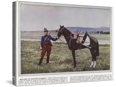 Brigadier De Chasseurs D'Afrique-Jules Gervais-Courtellemont-Stretched Canvas Print