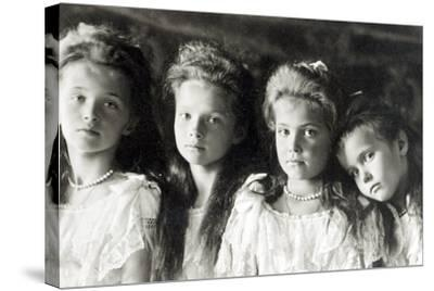 The Daughters of Tzar Nicholas II--Stretched Canvas Print