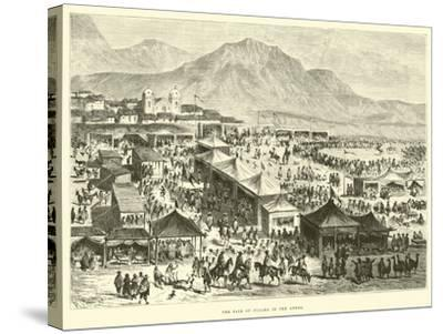 The Fair of Pucara in the Andes-?douard Riou-Stretched Canvas Print