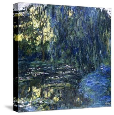 View of the Lilypond with Willow, C.1917-1919-Claude Monet-Stretched Canvas Print
