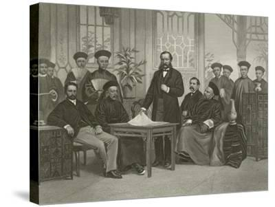 Chinese Embassy to Foreign Powers, 1868-Alonzo Chappel-Stretched Canvas Print