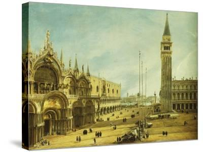 The Piazza San Marco, Venice-Michele Marieschi-Stretched Canvas Print