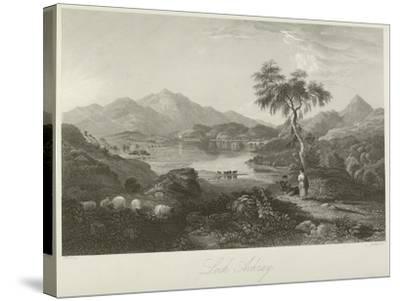 Loch Achray--Stretched Canvas Print