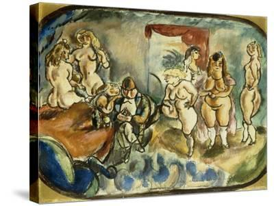The Dithering Client, 1916-Jules Pascin-Stretched Canvas Print
