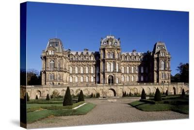Facade of Bowes Museum-Jules Pellechet-Stretched Canvas Print
