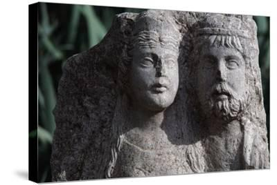 Funerary Stele from Roman City of Timgad--Stretched Canvas Print