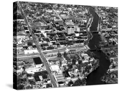 Fort Lauderdale Aerial View, 1932--Stretched Canvas Print