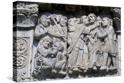 Bas-Relief of Maestro Guglielmo--Stretched Canvas Print