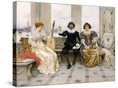 The Recital-Federigo Andreotti-Stretched Canvas Print