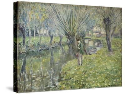 By the River-Frederick Carl Frieseke-Stretched Canvas Print