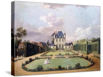 Views of the Chateau De Mousseaux and its Gardens-Jean-Francois Hue-Stretched Canvas Print
