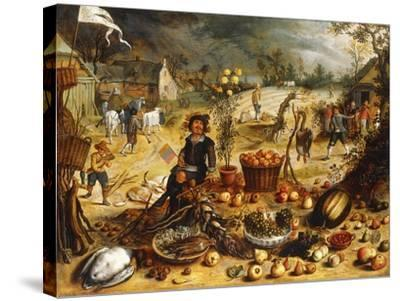 The Four Seasons - Autumn-Sebastian Vrancx-Stretched Canvas Print