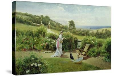 In the Garden, 1903-Thomas James Lloyd-Stretched Canvas Print