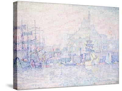 Marseille, La Bonne Mere, Morning Mist, 1907-Paul Signac-Stretched Canvas Print