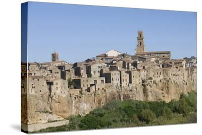 The Town of Pitigliano, Maremma, Tuscany, Italy--Stretched Canvas Print