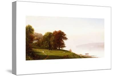 Landscape on the Hudson, C.1865-Alfred Thompson Bricher-Stretched Canvas Print