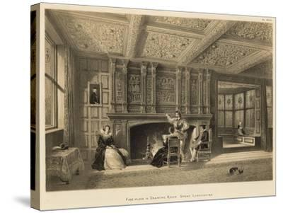 Fire-Place in Drawing Room, Speke, Lancashire-Joseph Nash-Stretched Canvas Print
