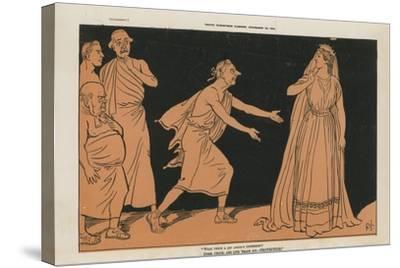 Political Cartoon--Stretched Canvas Print