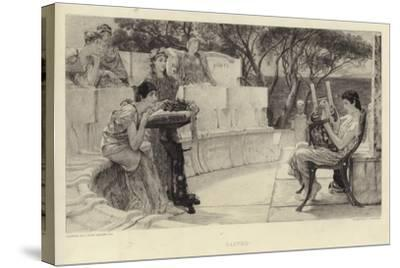 Sappho-Sir Lawrence Alma-Tadema-Stretched Canvas Print