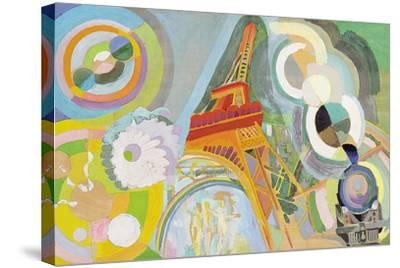 Air, Iron and Water, Study, 1937-Robert Delaunay-Stretched Canvas Print
