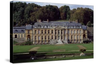 Facade of Dampierre Castle-Jules Hardouin Mansart-Stretched Canvas Print