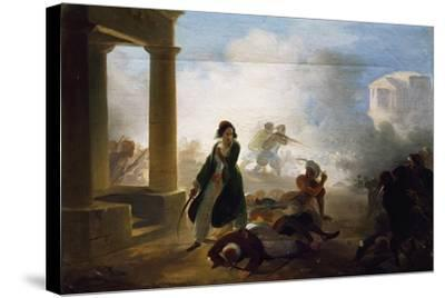Massacres in Greece, 1855-1860-Giovanni Marghinotti-Stretched Canvas Print