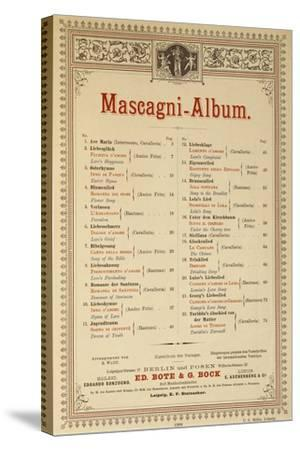 Title Page of Album of Compositions-Pietro Mascagni-Stretched Canvas Print