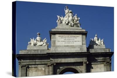 Puerta De Toledo Gate, 1813-1827-Antonio Lopez Aguado-Stretched Canvas Print