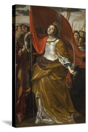 St Ursula and the Virgins, 1622-1623-Giovanni Lanfranco-Stretched Canvas Print