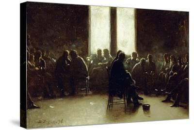 Study for the Nantucket School of Philosophy, 1876-Eastman Johnson-Stretched Canvas Print