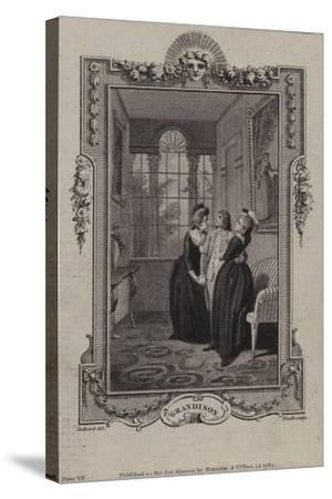 Scene from the History of Sir Charles Grandison--Stretched Canvas Print
