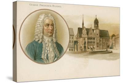 George Frideric Handel, German-Born British Composer--Stretched Canvas Print