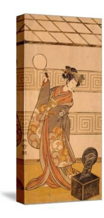 Actor Arashi Sangoro II in Female Part-Katsukawa Shunsho-Stretched Canvas Print