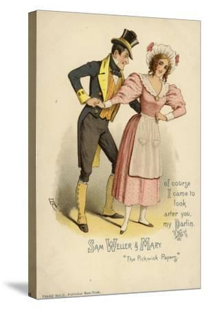 Sam Weller and Mary, from the Pickwick Papers--Stretched Canvas Print