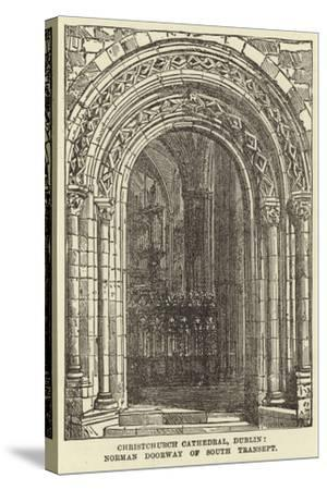 Christchurch Cathedral, Dublin, Norman Doorway of South Transept--Stretched Canvas Print